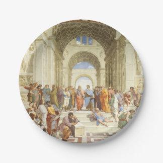 Prato De Papel Raphael - A escola de Atenas 1511