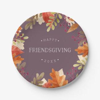 Prato De Papel Recompensa | Friendsgiving feliz do outono