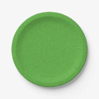 Prato De Papel Reflexo verde