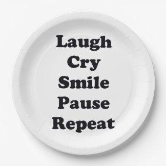 Prato De Papel Repetição do riso