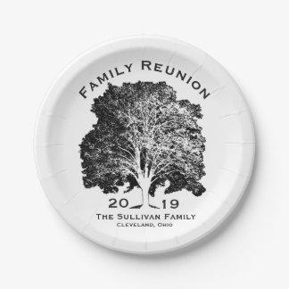 Prato De Papel Reunião de família da árvore que recolhe o partido