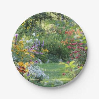 Prato De Papel Reunião de três jardins