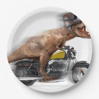 Prato De Papel Rex dos motocicleta-tiranossauros-t do rex de T -