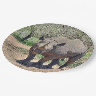 Prato De Papel rinoceronte