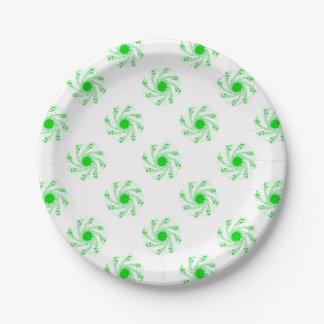 Prato De Papel Roda verde do Pin