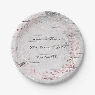 Prato De Papel Rosa cinzento branco do rosa da festão da grinalda