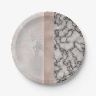 Prato De Papel Rosa cinzento branco geométrico do rosa do mármore