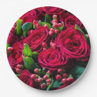 Prato De Papel Rosas vermelhas