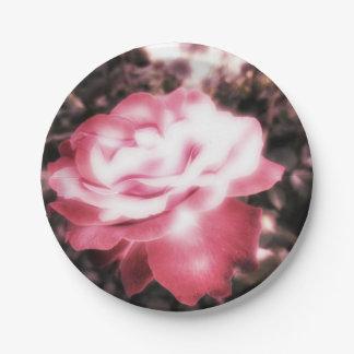 Prato De Papel Rosas vermelhas do vintage