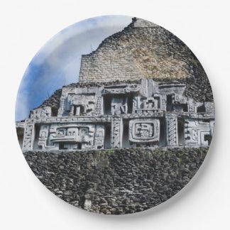 Prato De Papel Ruína maia de Xunantunich em Belize