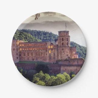 Prato De Papel Ruínas famosas do castelo, Heidelberg, Alemanha