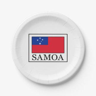 Prato De Papel Samoa