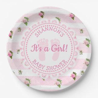 Prato De Papel São-lhe personalizadas as placas de um chá de