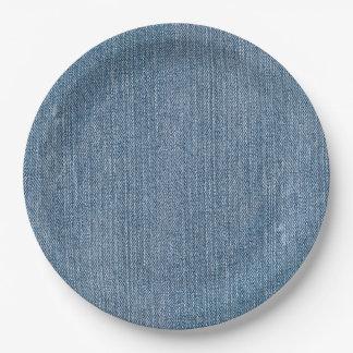 Prato De Papel Sarja de Nimes azul de Jean