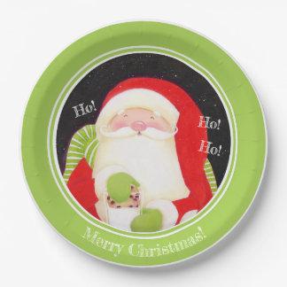 Prato De Papel Seja alegre! Placas de papel do Natal clássico