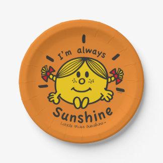 Prato De Papel Senhorita pequena Luz do sol | eu sou sempre luz