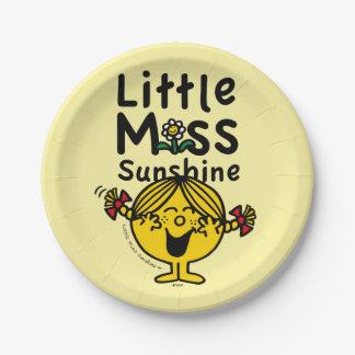 Prato De Papel Senhorita pequena pequena Luz do sol Riso da