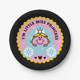 Prato De Papel Senhorita pequena princesa | eu sou uma princesa