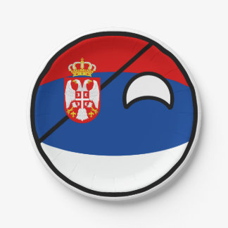 Prato De Papel Serbia Geeky de tensão engraçado Countryball