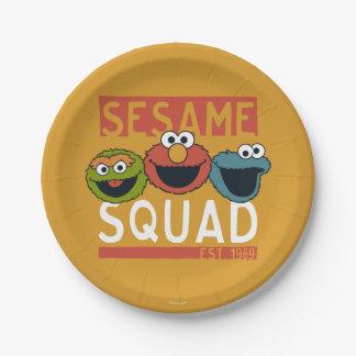 Prato De Papel Sesame Street - pelotão do sésamo