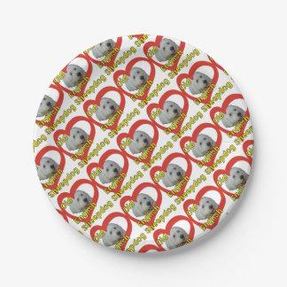 Prato De Papel Sheepdog inglês velho