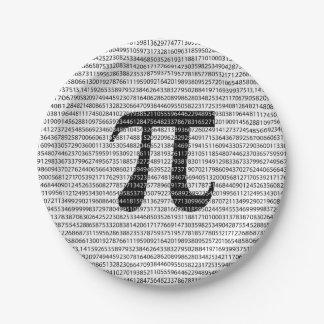 Prato De Papel Símbolo matemático do dia preto original do pi do
