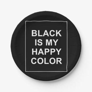 PRATO DE PAPEL SKAM - BLACK IS MY HAPPY COLOR