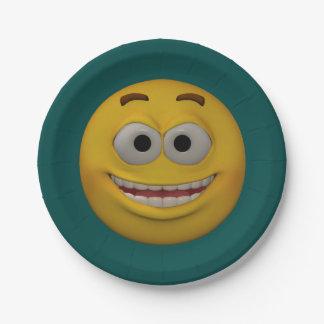 Prato De Papel smiley 2 do estilo 3D