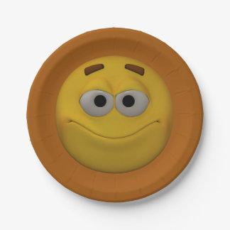 Prato De Papel smiley 4 do estilo 3D