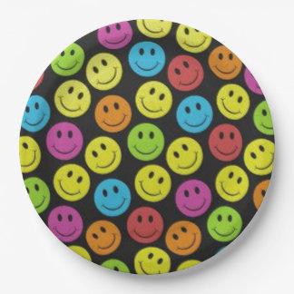Prato De Papel Smiley face doce