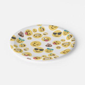 Prato De Papel Smiley louco Emojis