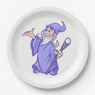 Prato De Papel Sorceress roxo mágico do mágico do feiticeiro