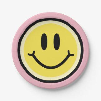 Prato De Papel Sorriso amarelo