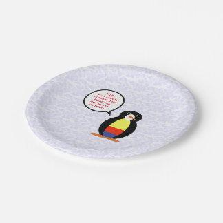 Prato De Papel Sr. colombiano Pinguim do feriado