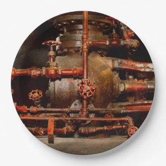 Prato De Papel Steampunk - sonhos de tubulação
