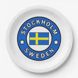 Prato De Papel Suecia de Éstocolmo