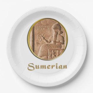 Prato De Papel sumerian