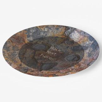 Prato De Papel Superfície da rocha de Sedementary da geologia