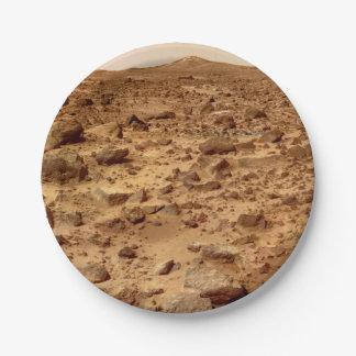 Prato De Papel Superfície rochosa do planeta Marte