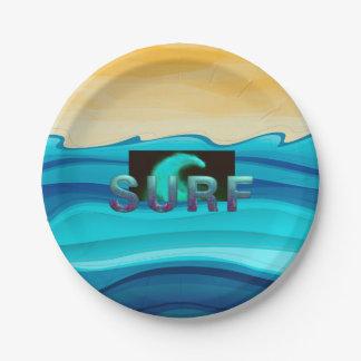 Prato De Papel Surf SUPERIOR