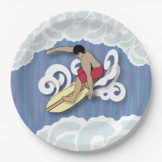 Prato De Papel Surfista no tambor