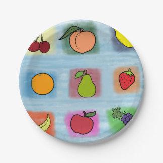 Prato De Papel Surpresa da fruta