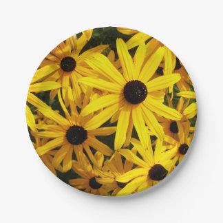 Prato De Papel Susans de olhos pretos floral
