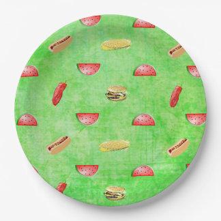 Prato De Papel Tablecloth verde dos vegetarianos e dos