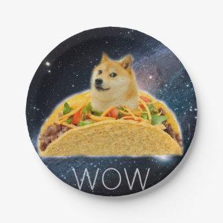 Prato De Papel Taco do Doge - doge cão-bonito do doge-shibe-doge