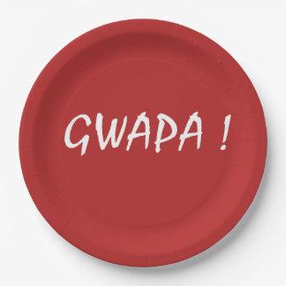 Prato De Papel Tagalog do filipino de Cebuano do texto do gwapa