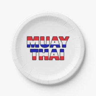 Prato De Papel Tailandês de Muay