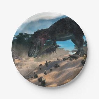 Prato De Papel Tarbosaurusnext à floresta liban do cedro