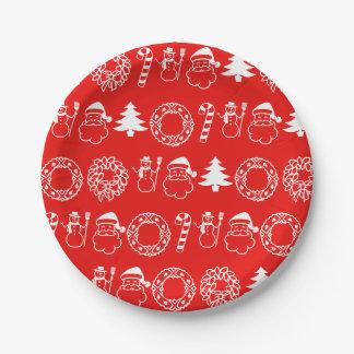Prato De Papel Temas 4Sandy do Natal do feriado