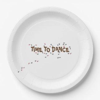 Prato De Papel Tempo do inseto da formiga dançar a placa de papel